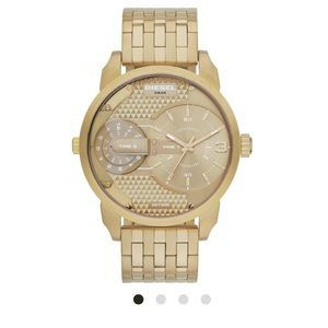 Diesel Little Daddy chronograph gold watch